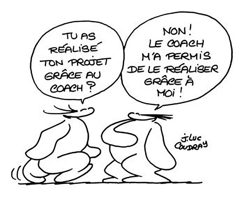Illustration de Jean-Luc Coudray sur le rôle d'un coach